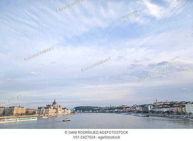 Danube and Parlament in Budapest, Hungary