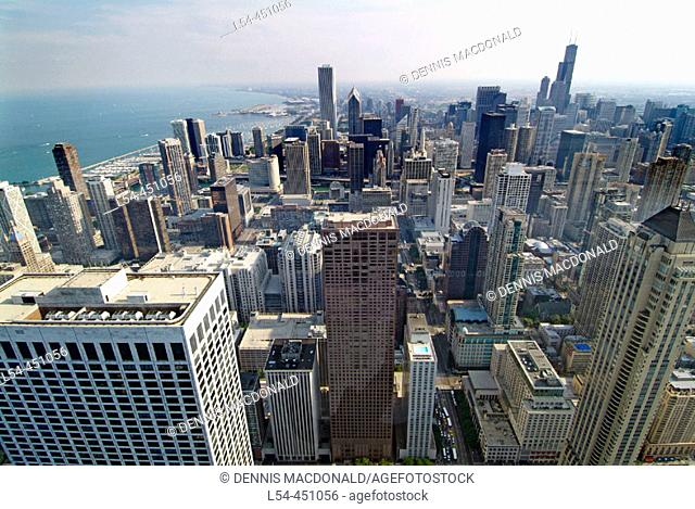 Downtown city of Chicago, Illinois. USA