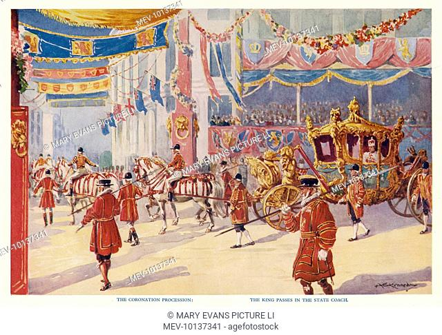 EDWARD VIII An artist's impression of how Edward's coronation procession would have looked, had he not abdicated in December 1936