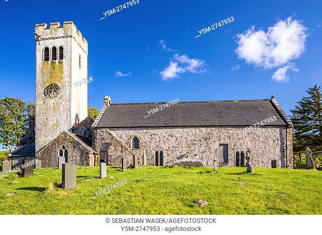 Saint James Church at Manorbier, Pembrokeshire Coast National Park, Pembrokeshire, Wales, United Kingdom, Europe
