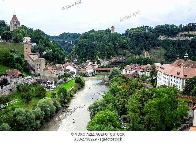 Switzerland, Canton Fribourg, Fribourg, landscape