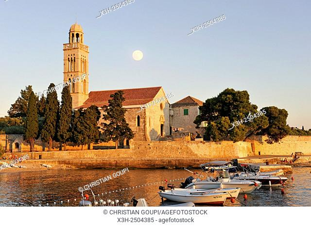 Franciscan monastery and church of Our Lady of Grace, Hvar city, Hvar island, Croatia, Southeast Europe