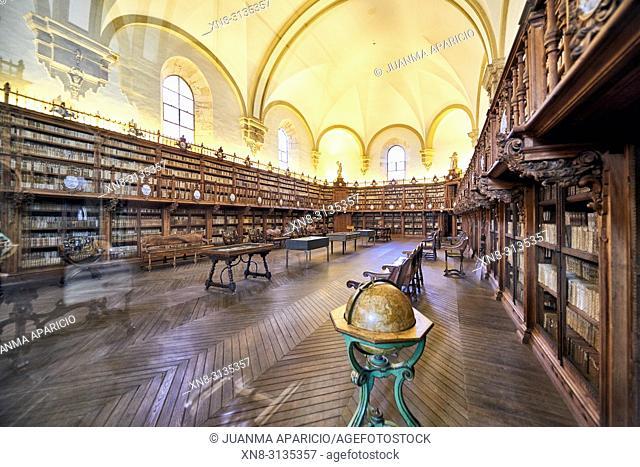 Old Library of University of Salamanca, Salamanca City, Spain, Europe