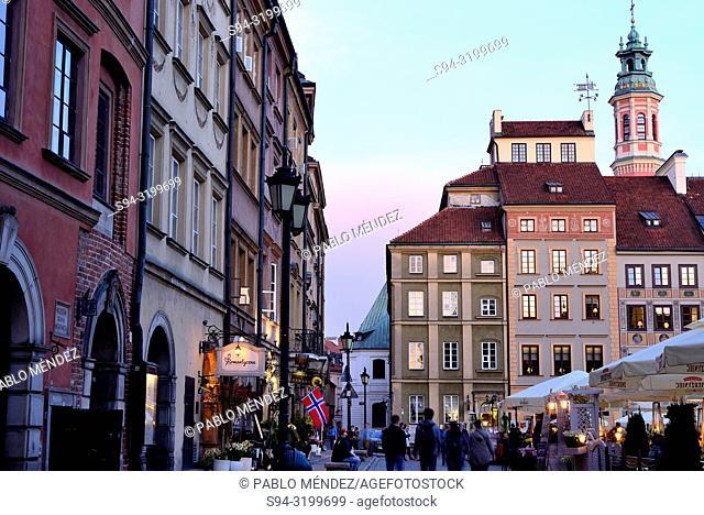 Stariego Miasta square or Rynek of Warsaw, Poland