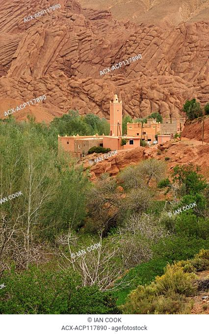 mosque near Tamellait, Dades Gorge, Morocco