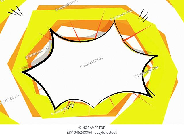 Vector illustrated comic book style abstract background