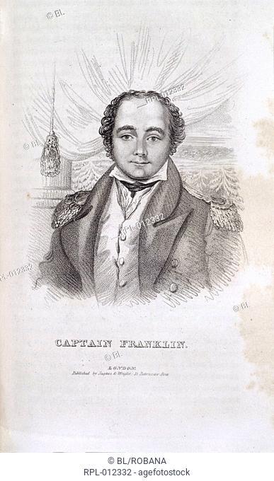 Sir John Franklin  1786-1847 . English explorer. Portrait. Image taken from Captain Franklin's Journey to the Polar Sea. In Dennett John F