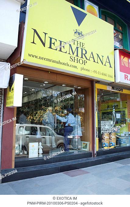 Facade of a store, New Delhi, India