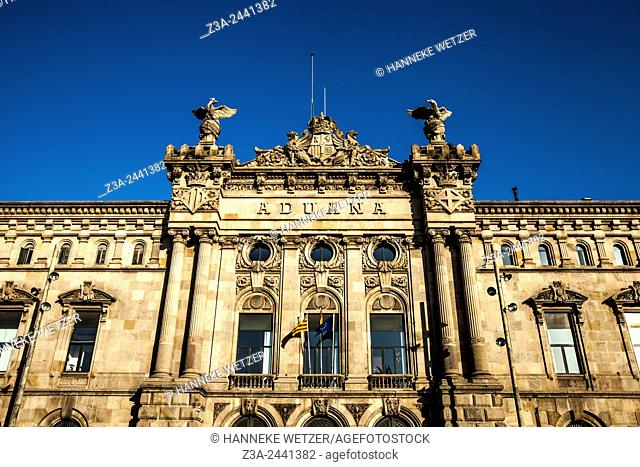 The Aduana building, an old customs building constructed in 1902, Barcelona, Spain