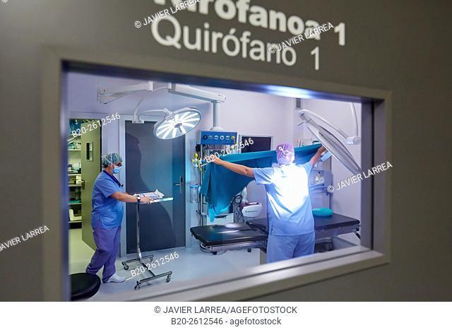 Operating room, Hospital, Donostia, San Sebastian, Gipuzkoa, Basque Country, Spain