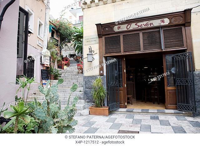 O Seven Bar in Taormina, Sicily, Italy