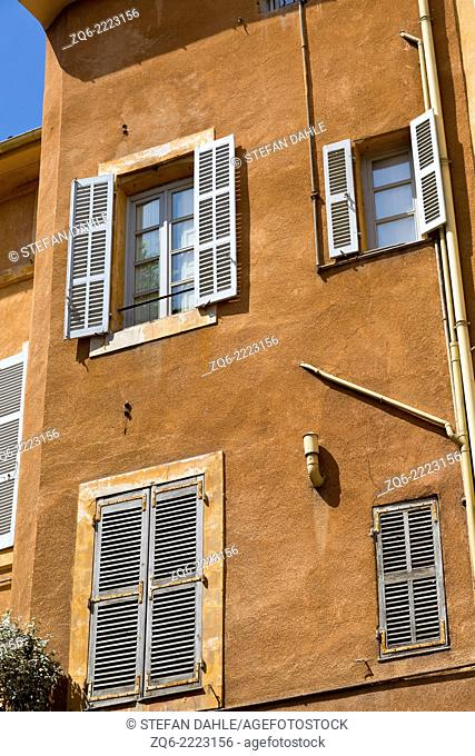Typical Windows in Aix-en-Provence, France