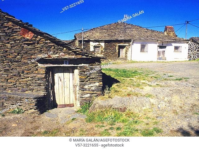 Traditional architecture. Campillo de Ranas, Guadalajara province, Castilla La Mancha, Spain