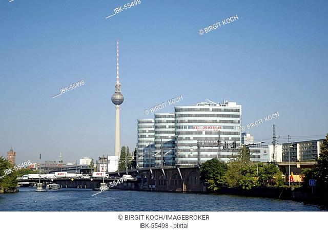 Trias building with television tower, Berlin, Germany