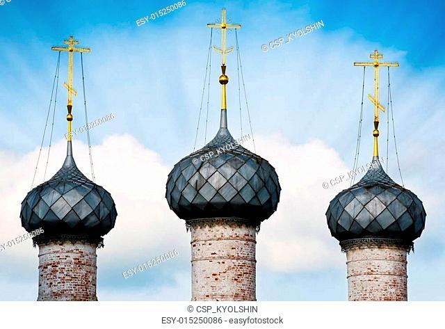 Three domes of russian church