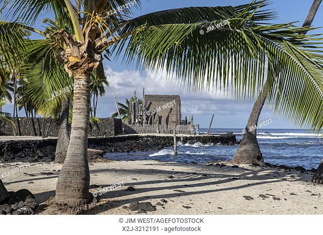 Honaunau, Hawaii - Pu'uhonua o Honaunau National Historical Park. In ancient Hawaii, this was the place of refuge, where individuals who had broken traditional...