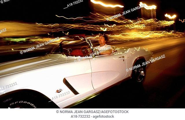 Cruising in a 1962 Corvette