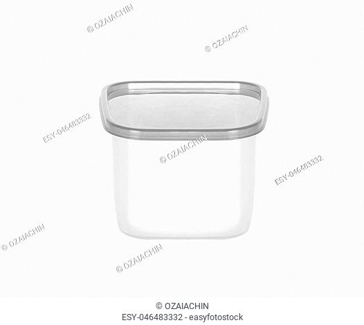 Plastic food box isolated on white