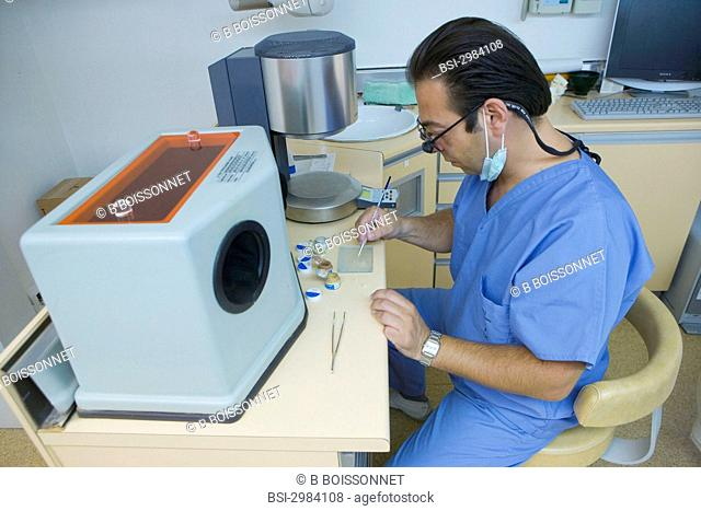 Manufacture and set up of inlays-onlays on two molar teeth. The dentist will be assisted by a computer for all the steps of conception and manufacture of the...
