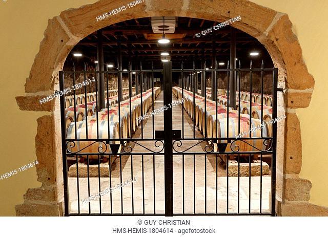 France, Saone et Loire, wine storehouse, Hameau Duboeuf, Romaneche Thorins, Beaujolais vineyar