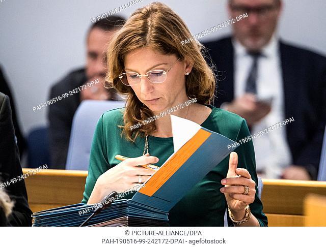 16 May 2019, Rhineland-Palatinate, Mainz: Sabine Bätzing-Lichtenthäler (SPD), Minister for Social Affairs, Labour and Health of Rhineland-Palatinate