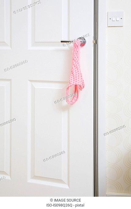 Knickers on a door handle