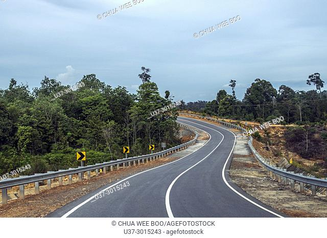 Scenery along Singkawang-Aruk road, West Kalimantan, Indonesia