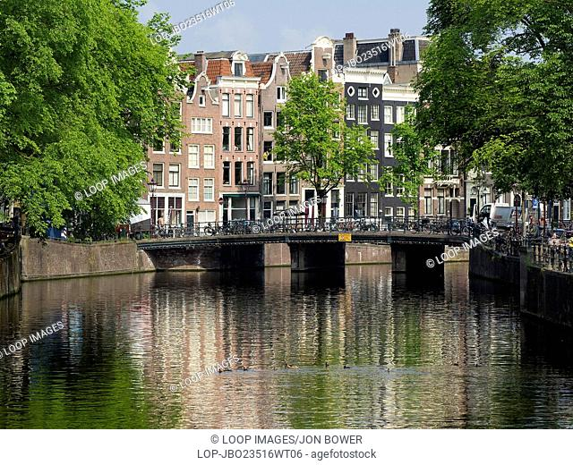 A typical scene in the centre of Amsterdam