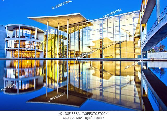 Paul Loebe House, Government Building, Government District, Spree river, Berlin, Germany, Europe