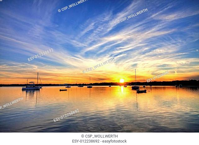 harbor with sailboats hdr