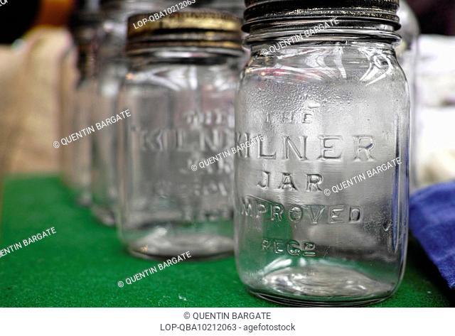 Old kilner jars for sale in Smithfield Market