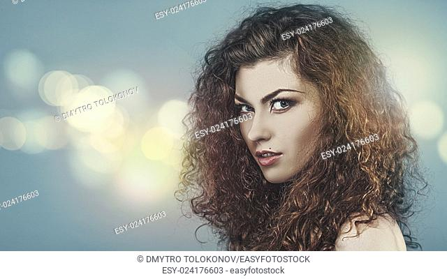 Beauty in the darkness, female fashionable portrait
