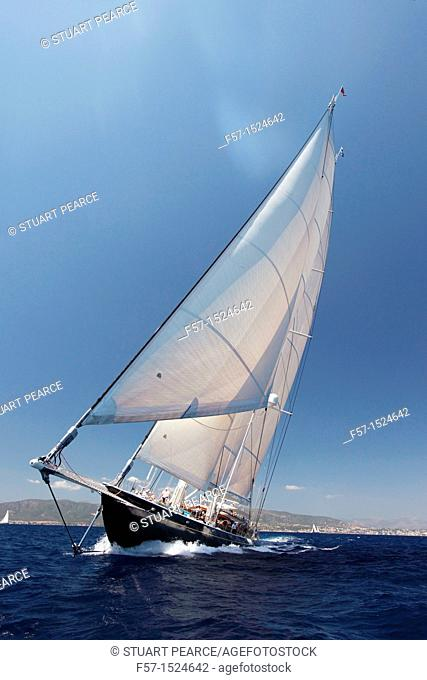 Athos at the Superyacht Cup In Palma de Mallorca, Spain