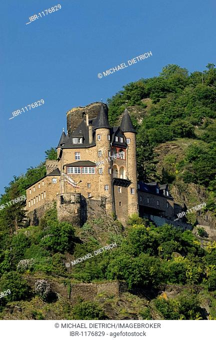 Burg Katz Castle, formally Burg Neukatzenelnbogen, UNESCO World Heritage Site Middle Rhine Valley, Rhineland-Palatinate, Germany, Europe