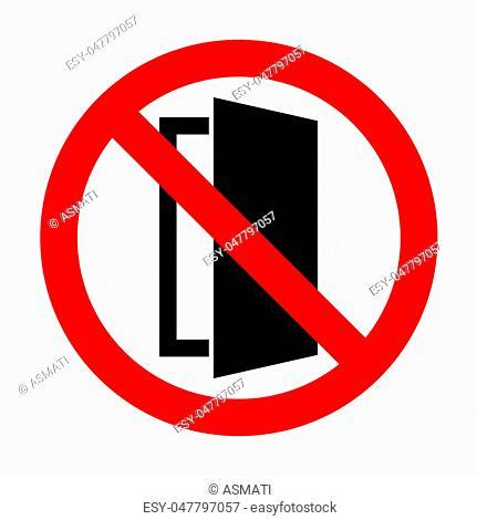 No Door sign illustration