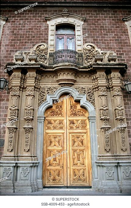 Large ornate door of a palace, Alcazar Palace, Seville, Spain