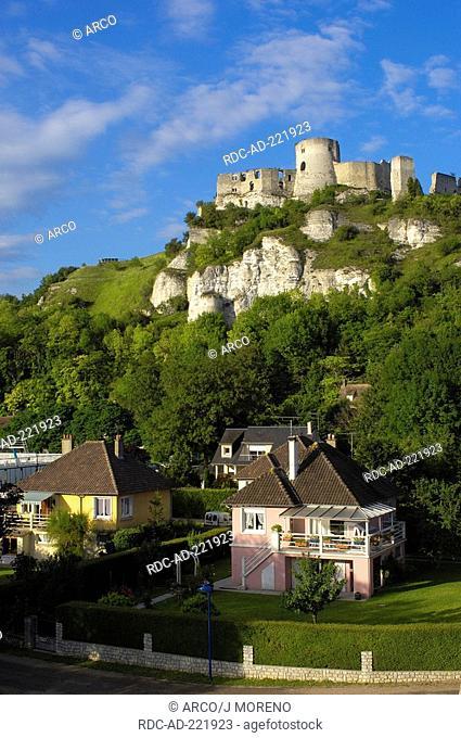 Chateau-Gaillard, Les Andelys, Seine valley, Normandy, France, Monument historique
