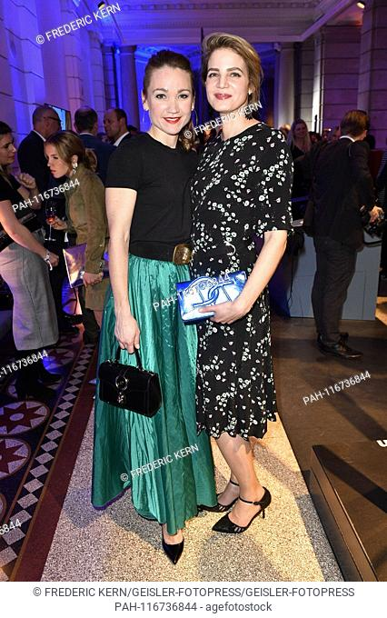 Lisa Maria Potthoff and Rike Schmid at the ARD Blue Hour during the Berlinale 2019 in the Museum of Communication. Berlin, 08.02