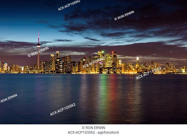 City of Toronto Ontario Canada evening skyline