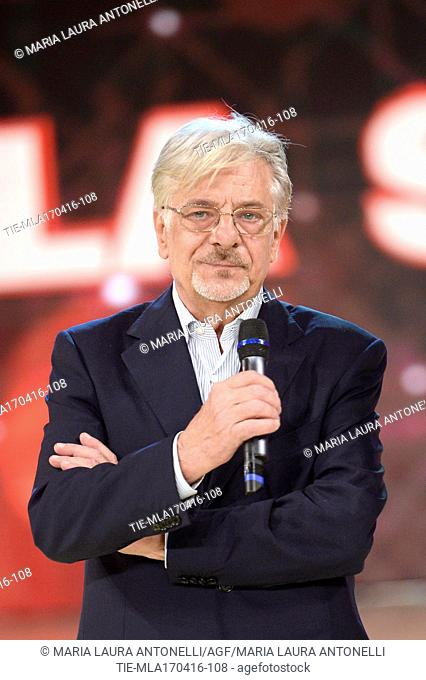 The actor Giancarlo Giannini guest at the tv programme Dancing with the stars, Rome, ITALY-18-04-2016