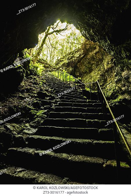 Gruta das Torres, cave, Pico Island, Azores, Portugal