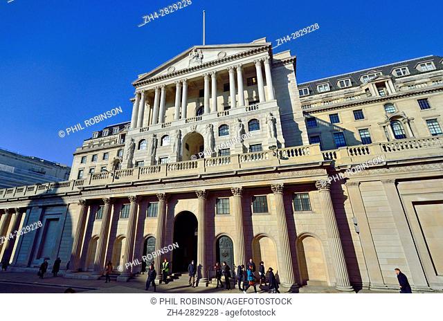 London, England, UK. The Bank of England facade