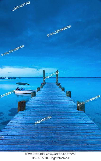 Bahamas, Eleuthera Island, Harbour Island, Dunmore Town, harbor view, dawn