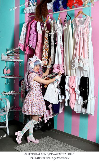 EXCLUSIVE - Fashion designer Melissa Lee poses in the studio of her label 'Mademoiselle Opossum' in Eulerstrasse in the Wedding district of Berlin, Germany