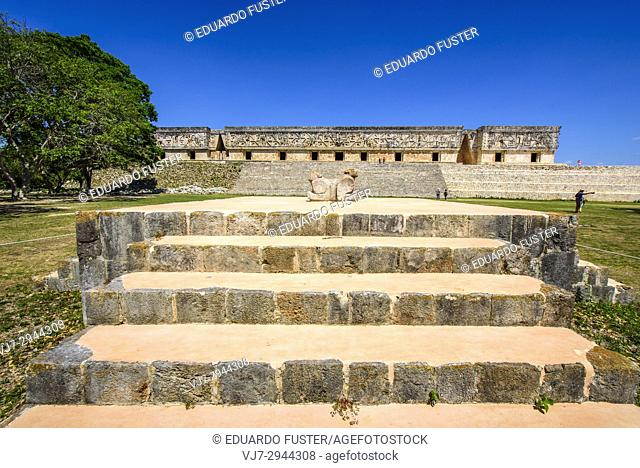Palacio del Gobernador-Governor's Palace, Maya archeological site Uxmal, Yucatan Province, Mexico, Central America