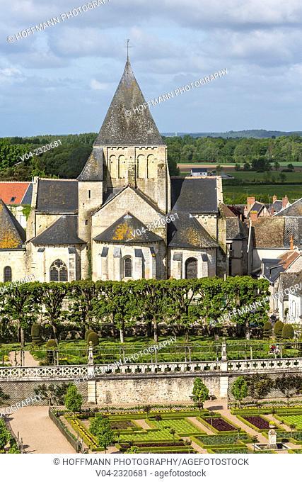 Historic Église Saint-Étienne de Villandry (Church Saint Etienne) in Villandry, Indre-et-Loire, France, Europe