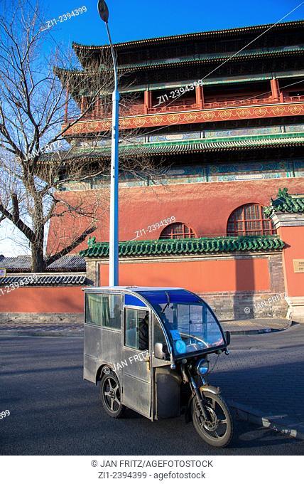 drumtower and rickshaw in Beijing