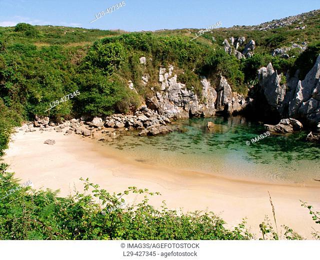 Gulpiyuri beach, Llanes. Asturias, Spain