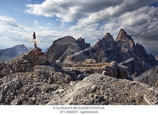 Tre Scarperi-Dreischuster group, Dolomites of Sesto, South tyrol, Italy