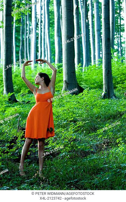 young woman in forest (model-released)